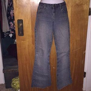 Mudd Blue Raw-Hem Blue Jeans